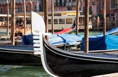 Venice gondola close up. On Grand Canal Royalty Free Stock Photos