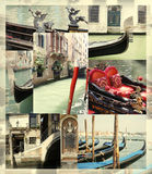 Venice gondola collage Stock Photography