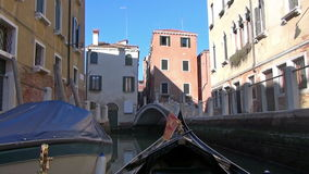 Venice. Gondola crossing a canal in Venice, Italy stock video