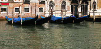 Venice gondola docks Stock Images