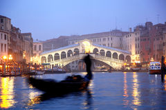 Venice with gondola in the evening, Italy Stock Photography