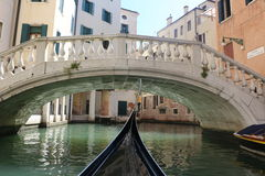 Venice. The gondola floats on the channel of Venice,water, Europe, Venice to float, a gondola,green water, beautiful photo Stock Photo