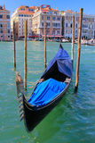 Venice, gondola in the foreground Stock Photo