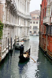 Venice with gondola on Grand canal Stock Images