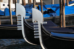 Venice with gondola on Grand canal Royalty Free Stock Images