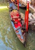 Venice - Gondola on The Grand Canal Stock Image