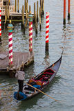 Venice gondola on Grand Canal Stock Photo