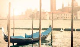 Venice Gondola Morning Glow Stock Photos