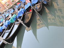 Venice gondola park Stock Photo