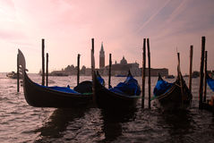 Venice - Gondola's Royalty Free Stock Photography