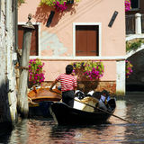 Venice - Gondola Series. Part of the make-up of Venice are the Gondolas and the Gondaliers. A good way to see the beautiful back street canals royalty free stock photos