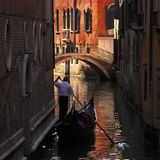 Venice - Gondola Series. Part of the make-up of Venice are the Gondolas and the Gondaliers Royalty Free Stock Images