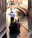 Venice - Gondola Series. Part of the make-up of Venice are the Gondolas and the Gondaliers Stock Images