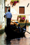 Venice - Gondola Series. Part of the make-up of Venice are the Gondolas and the Gondaliers stock image