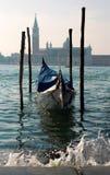 Venice - gondola and st. Giorgio church Royalty Free Stock Photography