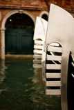 Venice gondola tail close-up Royalty Free Stock Photo