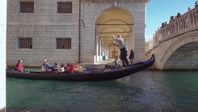 Venice Gondola. Venice gondolier stock video footage