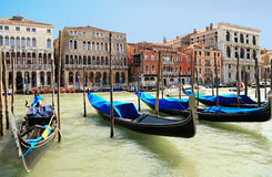 Venice and Gondolas Royalty Free Stock Photography