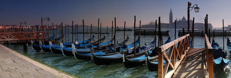 Venice gondolas Stock Images
