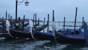Venice gondolas stock video footage