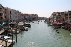 Venice. Gondolas and boats in Venice canals Royalty Free Stock Photography