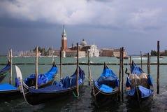 Venice Gondolas Grand Canal Stock Image