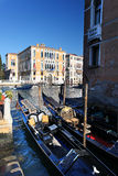 Venice with gondolas on Grand canal. In Italy Stock Photo