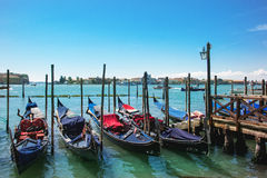 Venice with gondolas Stock Photography