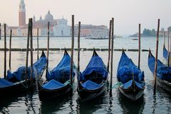 Venice Gondolas, Italy Royalty Free Stock Photography
