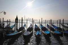 Venice with gondolas in  Italy Royalty Free Stock Photos