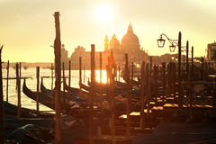 Venice with gondolas in  Italy Royalty Free Stock Photography