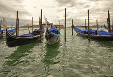 Venice. Gondolas in Venice in Italy Stock Photography