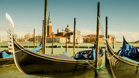 Venice. Gondolas in Venice in Italy Royalty Free Stock Photography