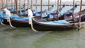 Venice Gondolas stock footage