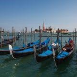 Venice gondolas  morning Stock Image