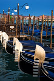 Venice gondolas by night Royalty Free Stock Image