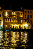 Venice gondolas at night Royalty Free Stock Image