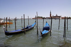 Venice, Gondolas On The Grand Canal Royalty Free Stock Photography