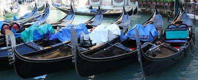 Venice Gondolas Panoramic Royalty Free Stock Photo