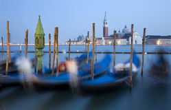Venice - gondolas and San Giorgio church Royalty Free Stock Image