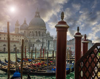 Venice and gondolas Stock Photos