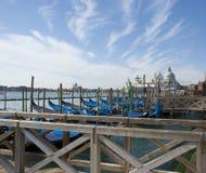 Venice - Gondolas and Santa Maria della Salute Royalty Free Stock Photo