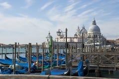 Venice - Gondolas and Santa Maria della Salute Royalty Free Stock Images