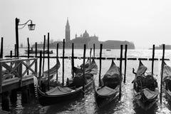 Venice - gondolas and st. Giorgio church Royalty Free Stock Image