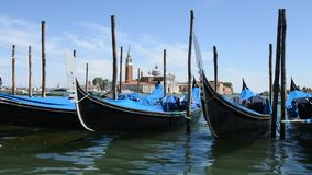 Venice gondolas stock video footage