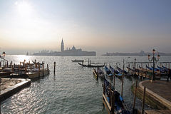 Venice and gondolas. Views of Venice and its canals and its gondolas Royalty Free Stock Photos