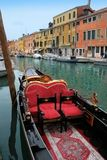 Venice: Gondolas waiting for a romantic ride Royalty Free Stock Photo