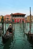 Venice: Gondolas waiting for a romantic ride Stock Photography