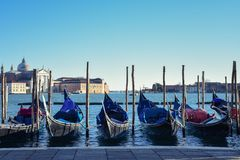 Venice Gondolas in the water stock image