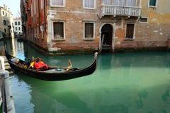 Venice. Gondolas at the wharf Stock Photo